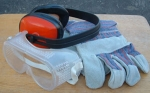 GB hearing, eye, hand protection set